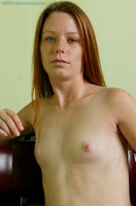 Skinny redhead freckles