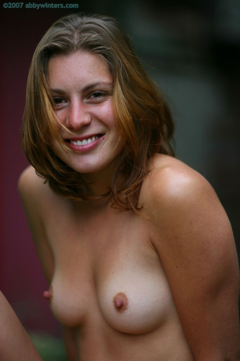 Abby Winters: Yvette, sexy amateur with erect nipples.